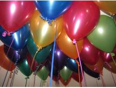 Metallic Coloured Helium Latex Balloons www.corporaterewards.com.au