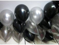 Metallic Black Silver Helium Latex Balloons CorporateRewardsau