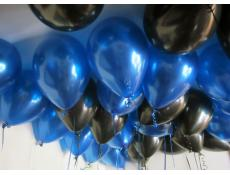 Metallic Blue & Black Helium Latex Balloons CorporateRewards.com.au