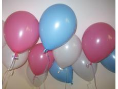 Fashion Pale Pink, Pale Blue & White Helium Latex Balloons www.CorporateRewards.com.au