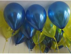 Metallic Blue & Yellow Helium Latex Balloons Eagles Football Balloons www.CorporateRewards.com.au