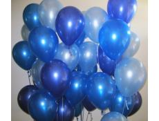 Pearl Blue, Metallic Blue and Metallic Midnight Blue Helium latex Balloons www.CorporateRewards.com.au