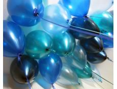 Metallic & Pearl Blue Helium Latex Balloons Pearl Blue, Metallic Blue, Metallic Midnight Blue, Metallic Teal CorporateRewards.com.au