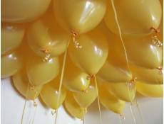 Fashion Golden Rod Helium Latex Balloons