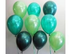 Metallic Lime, Emerald & Forest Green Helium Latex Balloons CorporateRewards.com.au