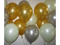 Metallic Gold & Silver with Pearl Ivory Balloons | www.corporaterewards.com.au