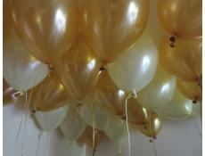Metallic Gold & Pearl Ivory Latex Helium Balloons CorporateRewards.com.au