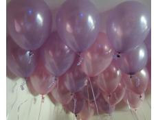 Pearl Pink and Lavender Helium Latex Balloons CorporateRewards.com.au