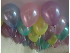 Pearl Pink, Purple, Yellow, Blue, Lavender & Mint Helium Latex Balloons CorporateRewards.com.au