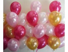 Pearl Pink & White and Metallic Magenta & Gold Helium Latex Balloons CorporateRewards.com.au