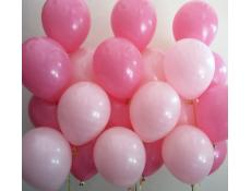 Pale Pink and Rose Pink Helium Latex Balloons www.CorporateRewards.com.au