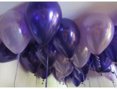 Pearl Lilac and Metallic Purple Helium Latex Balloons www.CorporateRewards.com.au