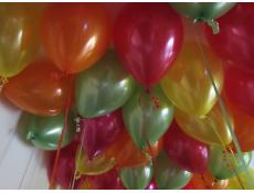 Metallic Lime, Orange, Yellow and Magenta Helium Latex Balloons www.CorporateRewards.com.au