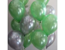Metallic Lime & Metallic Silver Helium Latex Balloons | www.CorporteRewards.com.au