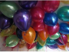 Rainbow Metallic Balloons | Purple, Orange, Blue, Magenta, Lime, Teal, Gold, Red & Yellow Helium Latex Balloons