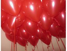 Metallic Ruby Red Helium Latex Balloons www.corporaterewards.com.au
