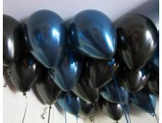 Metallic Midnight Blue and Black Latex Balloons www.CorporateRewards.com.au
