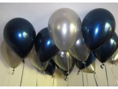 Metallic Midnight Blue and Silver Helium Latex Balloons www.CorporateRewards.com.au