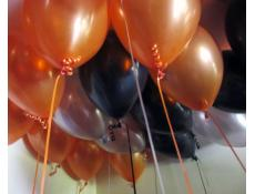 Metallic Orange, Black & Silver Balloons | corporaterewards.com.au