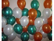 Metallic Orange, Emerald Green & White Balloons | www.CorporteRewards.com.au