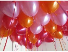 Metallic Orange, Red, Magenta & Pearl Pink Helium Latex Balloons www.CorporateRewards.com.au