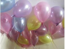 Pearl Pink, Blue, Yellow & Lavender Balloons