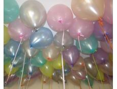 Pearl Mint Green, Peach, Silver, Pink, Blue, Yellow and Lavendar Helium Latex Balloons www.corporaterewards.com.au
