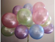 Pearl Helium Latex Balloons | Pink, Mint, Blue, Lavender & Yellow Balloons
