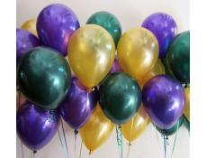 Metallic Purple, Gold and Forest Green Balloons www.CorporateRewards.com.au