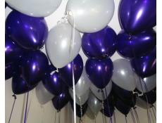 Metallic Purple & White Helium Latex Balloons Fremantle Docker Football Balloons