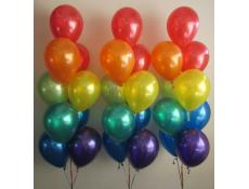 Metallic Rainbow Helium Balloon Arrangements www.corporaterewards.com.au