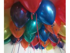 Metallic Red, Orange, Yellow, Emerald Gree, Sapphire Blue & Purple Helium Latex Balloons www.CorporateRewards.com.au