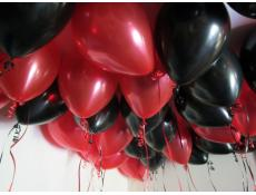 Metallic Red & Balck Helium Latex Balloons CorporateRewards.com.au