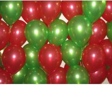 Metallic Red & Lime Green Helium Latex Balloons www.CorporateRewrds.com.au