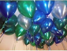 Metallic blue, Teal, Light Blue Helium Latex Balloons CorporateRewards.com.au