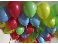 Fashion Red, blue, yellow & lime green helium latex balloons www.CorporateRewards.com.au