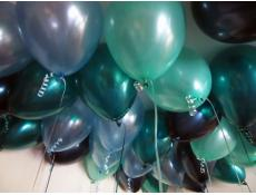 Metallic Teal & Midnight Blue, Pearl Green & Pearl blue balloons www.CorporateRewards.com.au