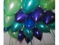 Metallic Laex Balloons : Lime Green, Teal, Sapphire and Purple www.corporaterewards.com.au