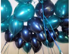 Metallic Teal & Midnight Blue Helium Latex Balloons www.CorporateRewards.com.au