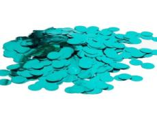 Metallic teal confetti round 1cm for balloons.