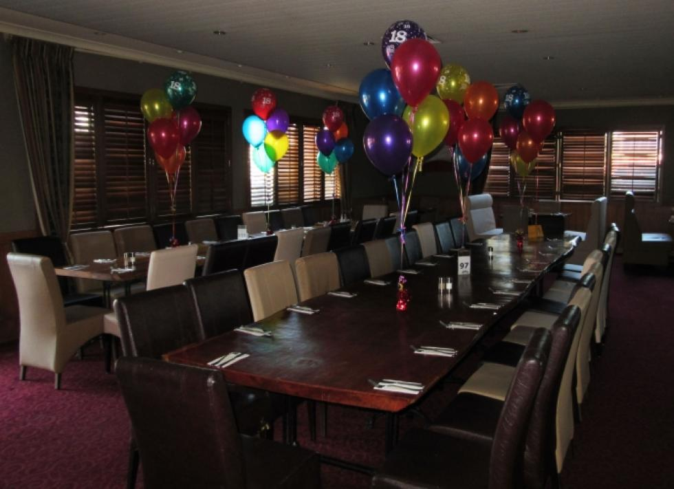 18th Birthday 5 Balloon Table Arrangements