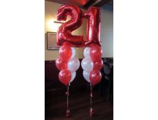 21st Number Balloon Arrangements | Belgian Beer Cafe www.corporaterewards.com.au
