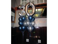 30th Silver Number Balloons | Matches Lounge Bar Northbridge CorporateRewards.com.au