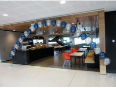 Metallic Midnight Blue & Silver Balloon Arch Perth CBD | www.CorporateRewards.com.au