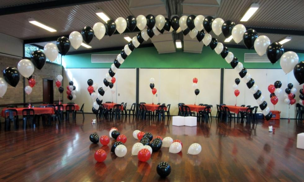 Cross Over Balloon Arch | Black & White Balloons CorporateRewards.com.au