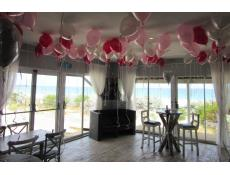 Helium Latex Ceilling Balloons | Metallic Magenta, Pink & Silver Balloons Leighton Beach Perth | www.CorporateRewards.com.au