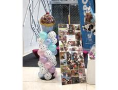 Cup Cake Balloon Column with dog paw print balloons | corporaterewards.com.au