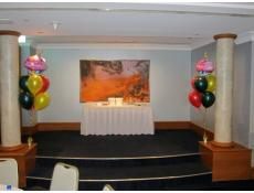 Foil Shpae and Latex Balloon Floor Arrangements | Duxton Hotel www.corporaterewards.com.au