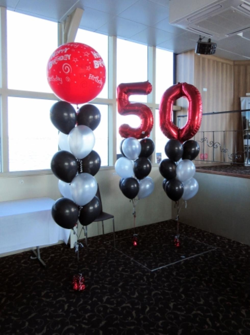 50th Balloon Decorations | Crystal Swan Boat CorporateRewards.com.au