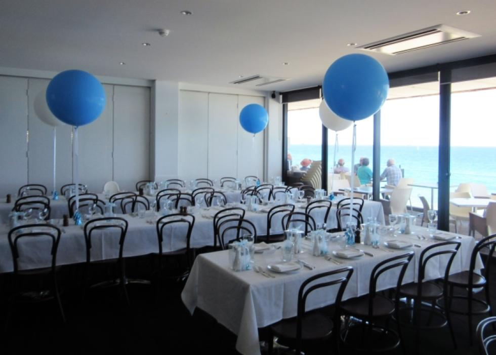 Gaint 90cm Latex Balloons | Blue & White Balloons CorporateRewards.com.au